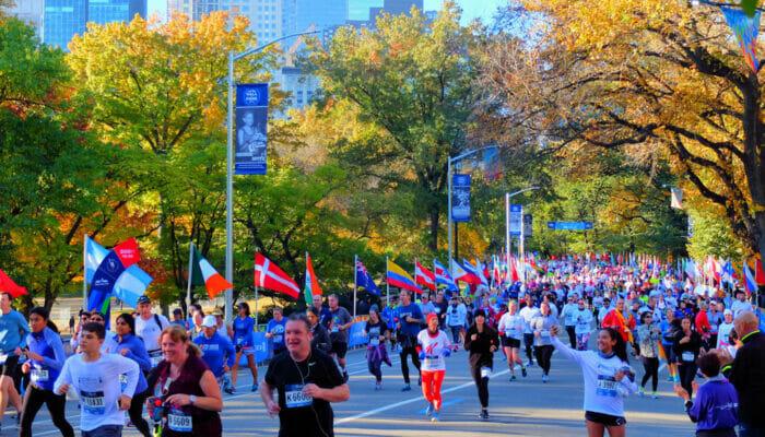 New York Marathon - Runners in Central Park