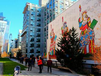 High Line Park in New York Mural