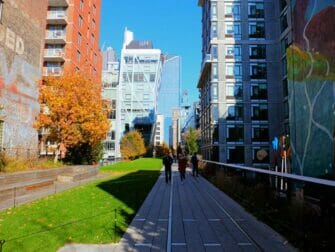 High Line Park in New York - Surrounded by Buildings