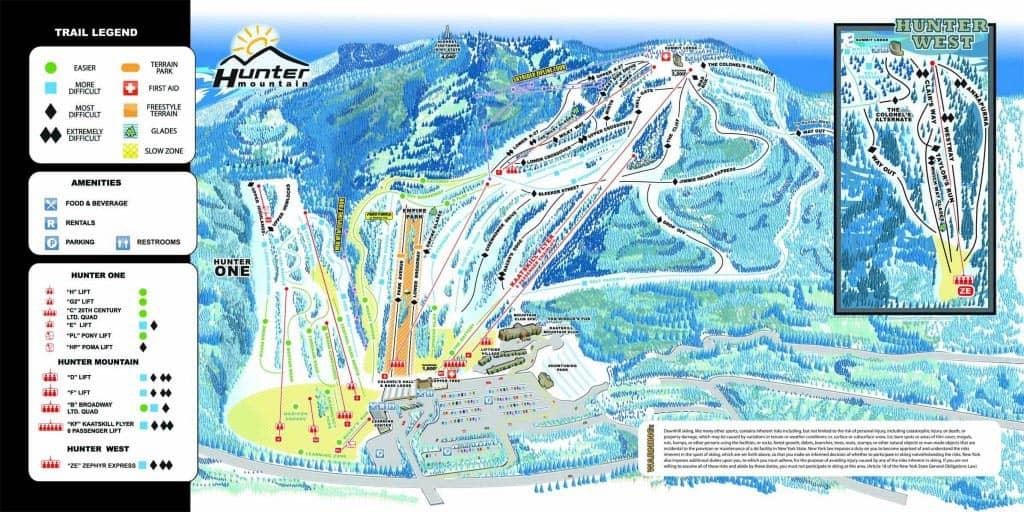 Ski or snowboard day trip in New York - Trailmap Trip