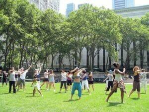 Dancing in Bryant Park