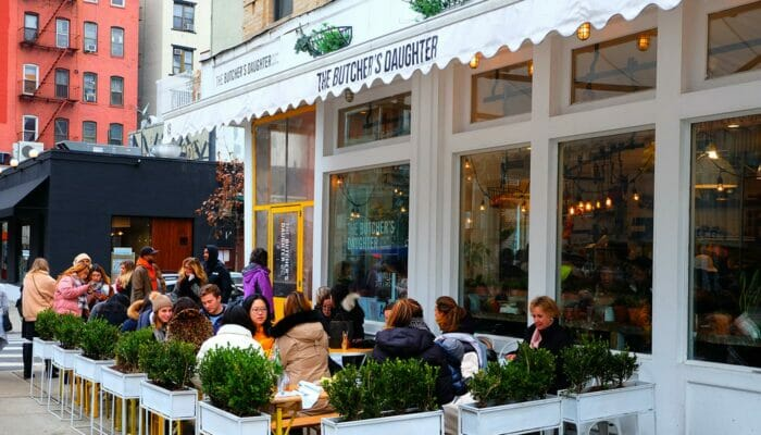Vegetarian Restaurants in New York - The Butcher's Daughter Terrace