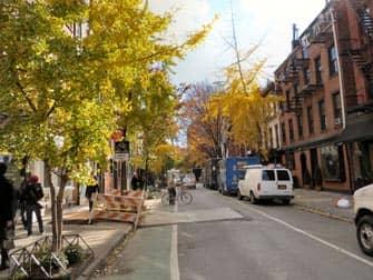 Bleecker Street in Greenwich Village