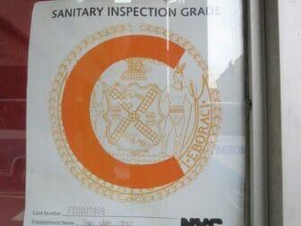 Hygiene in Restaurants in New York - Grade C Restaurant