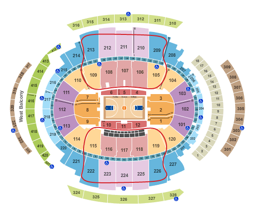 New York Knicks Tickets - Madison Square Garden Seating Chart