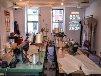 Tenement Museum in New York - Recreated Chinese garment factory