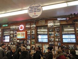 Lower East Side in NYC - inside Katzt's Deli