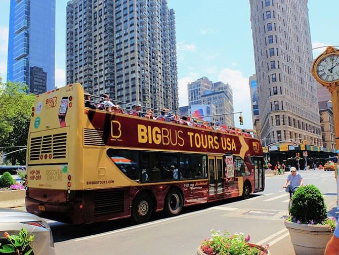 hop on hop off bus in new york - newyork.co.uk from £23