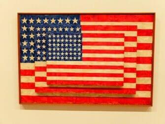 Whitney Museum in New York - Jasper Johns Flag