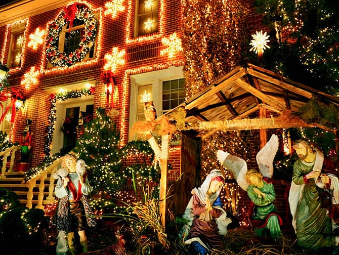 Dyker Heights Christmas Lights - Nativity Scene