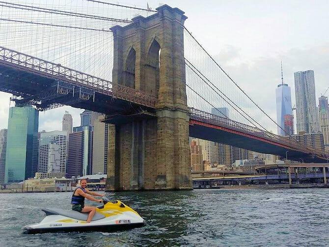 Jet skiing in New York