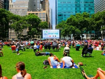 Broadway in Bryant Park - the lawn