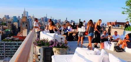 Visit a rooftop bar