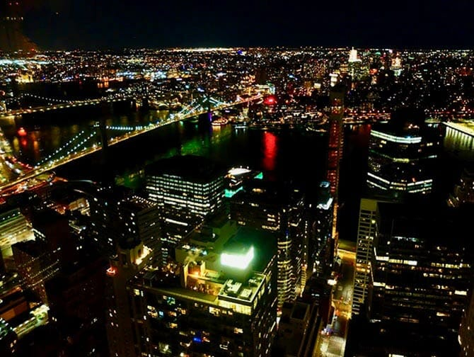 Restaurants in New York - View from Manhatta