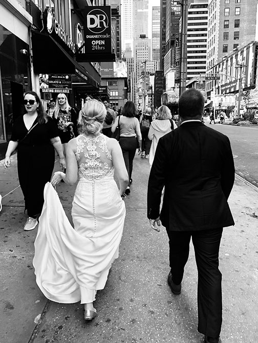 Wedding Photographer in New York - Street Shot