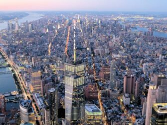 Evening Helicopter Tour and Sightseeing Cruise in New York - Freedom Tower