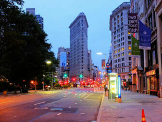 Flatiron Building in New York - At Night