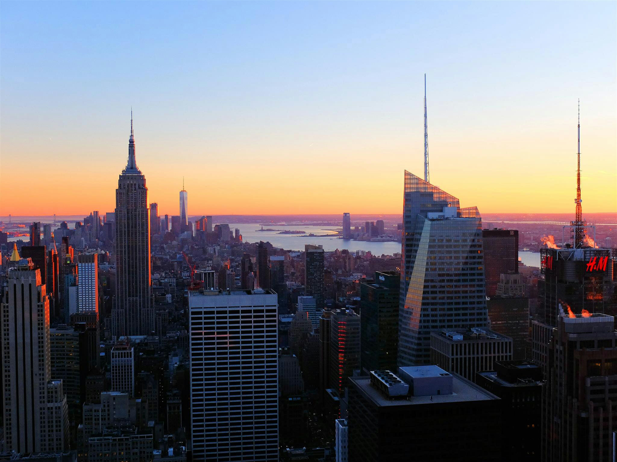 Empire State Building Skyline Susnet – High Quality Wallpaper