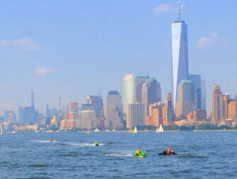 Jet skiing in New York - One World Trade Center