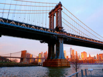 Manhattan Bridge in New York Sunset