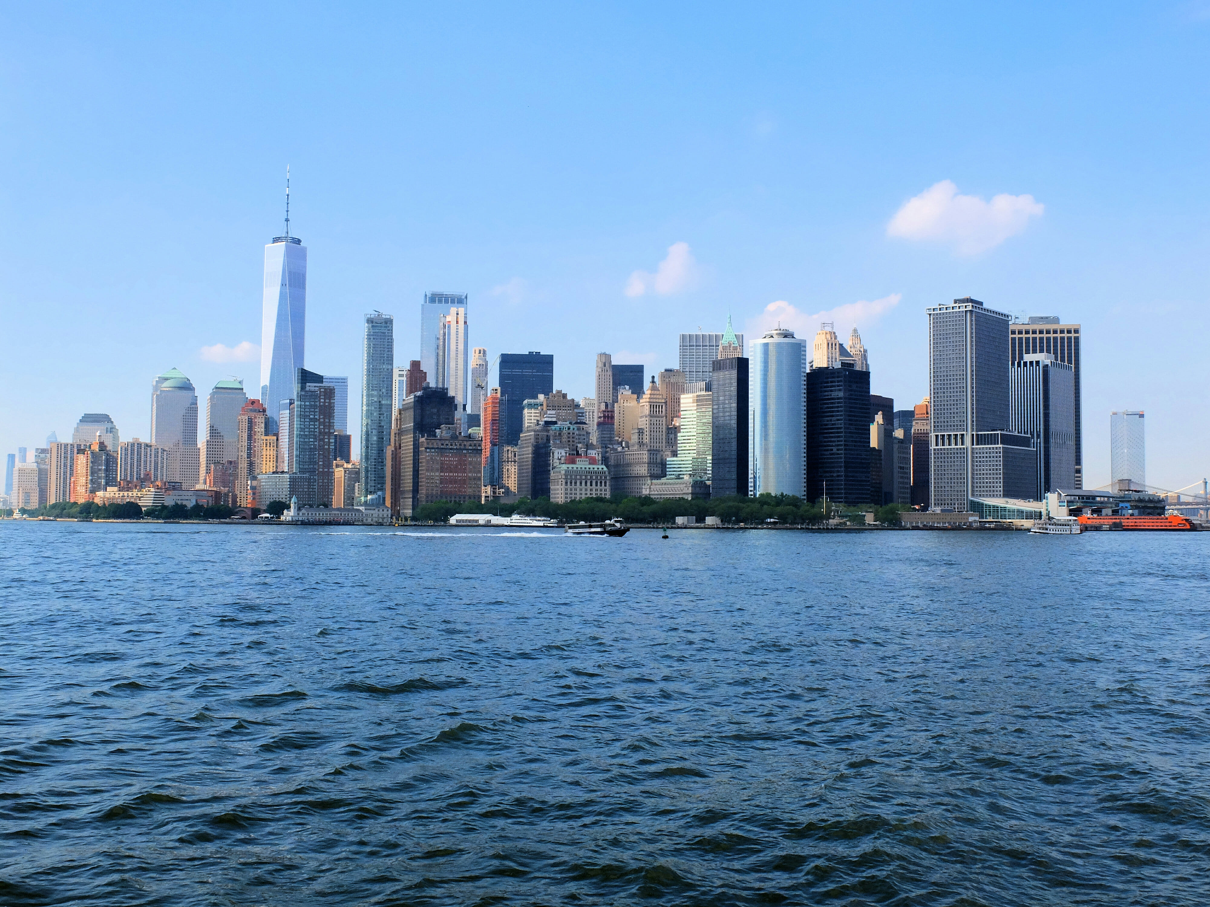 NYC Skyline from cruise – High Quality Wallpaper
