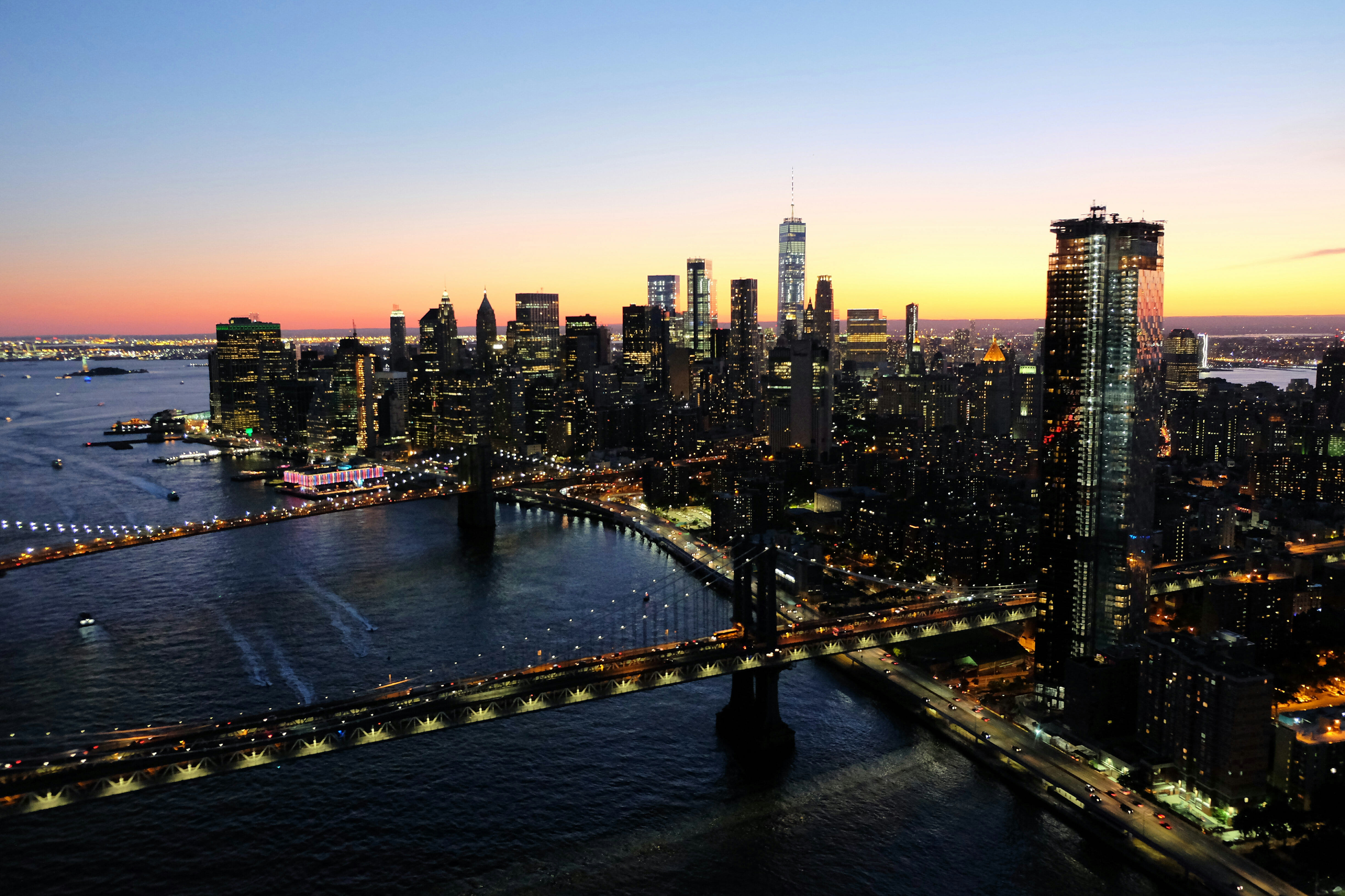 NYC Sunset Skyline – High Quality Wallpaper