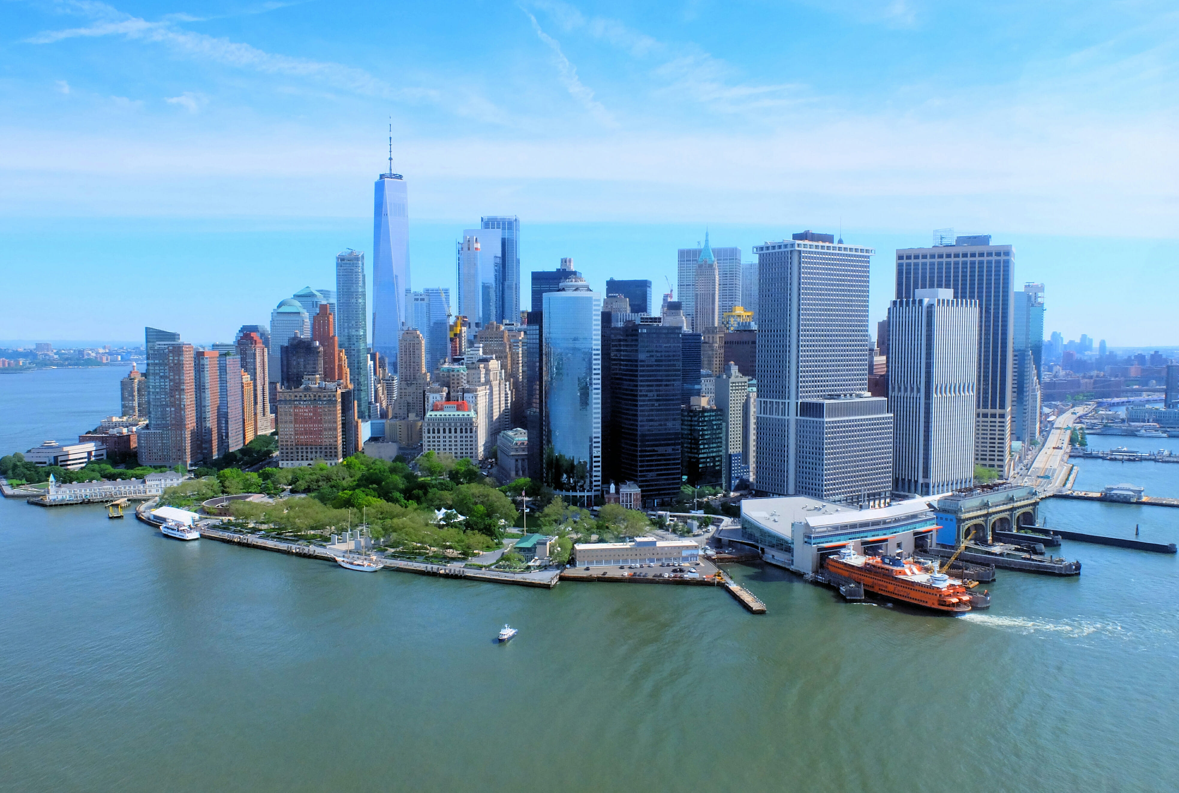 New York Helicopter Tour Skyline – High Quality Wallpaper