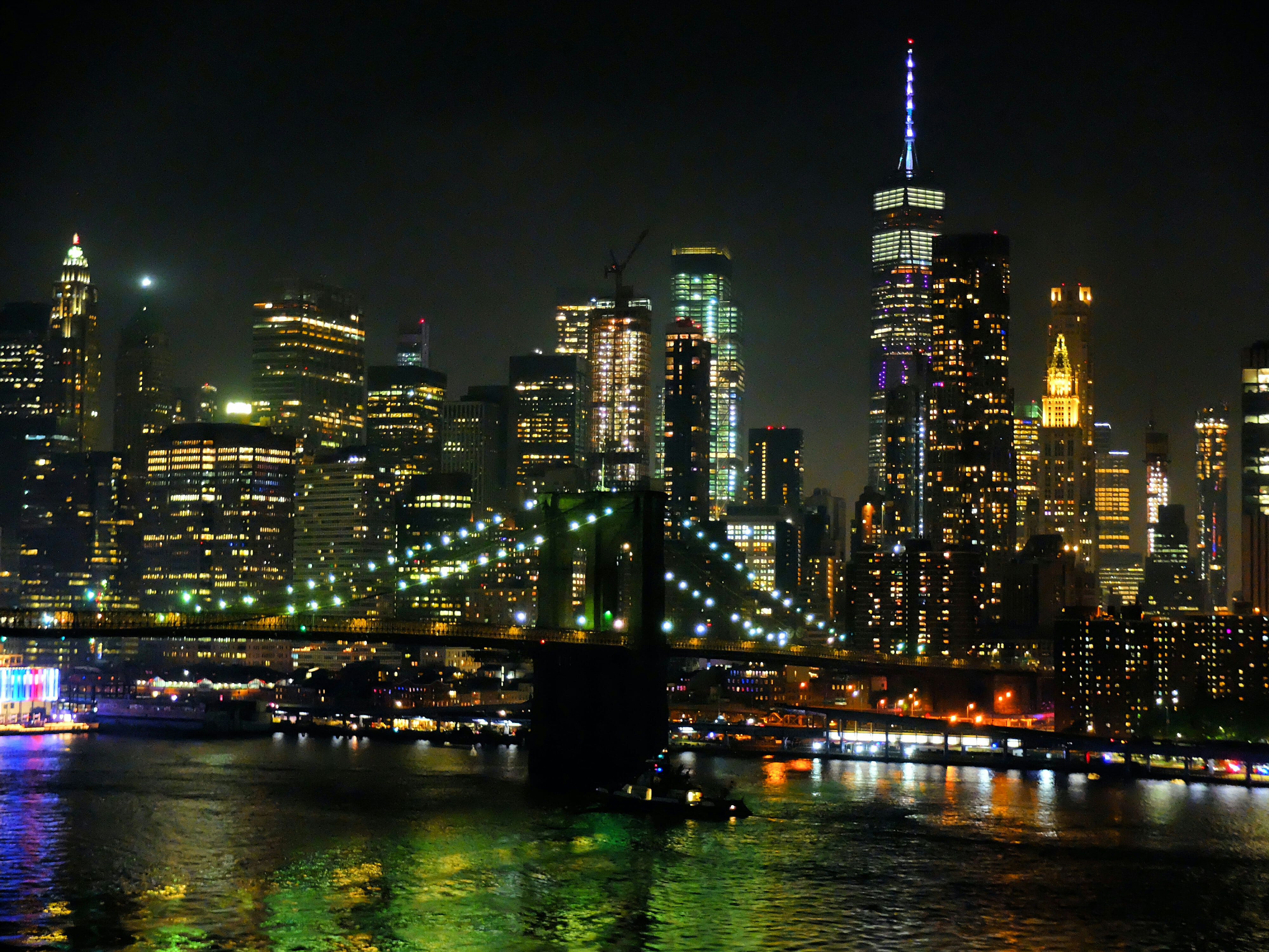 New York Skyline at Night – High Quality Wallpaper