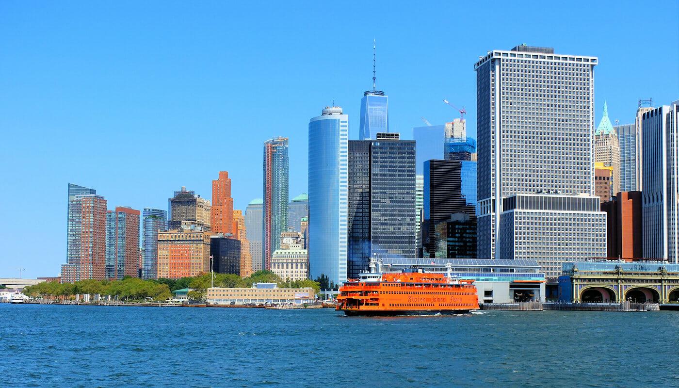 Staten Island in New York Skyline