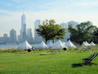 Governors Island in New York - Tents