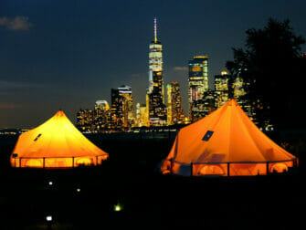 Governors Island in New York - Tents at Night