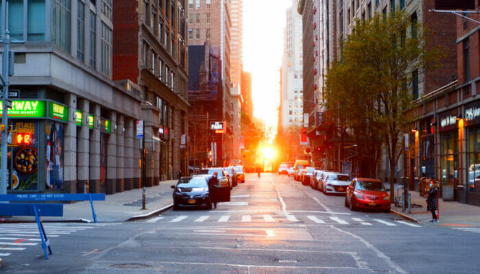Manhattanhenge - Street View