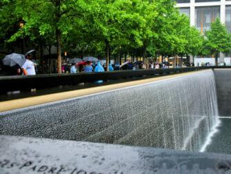 Rain in New York - 911 Memorial