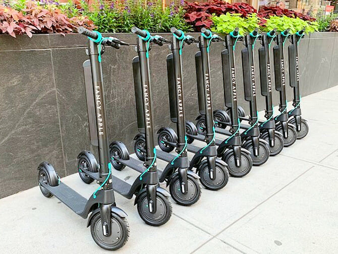 Electric scooter rental in New York