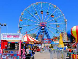 Deno's Wonder Wheel Amusement Park in Coney Island - Ferris Wheel